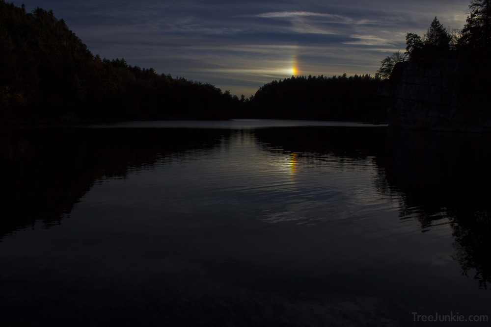 Evening Sun Dog From Mohonk Lake