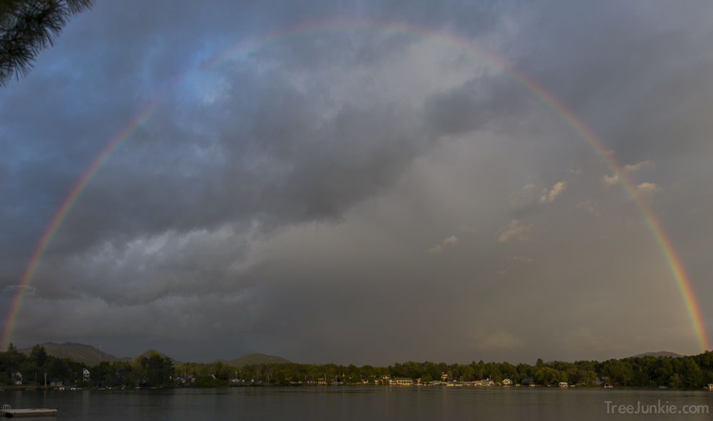 Rainbow Over Saranac Lake